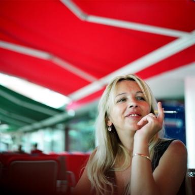 Ariana Saračević. Sarajevo, Bosnia and Herzegovina. July 2012.